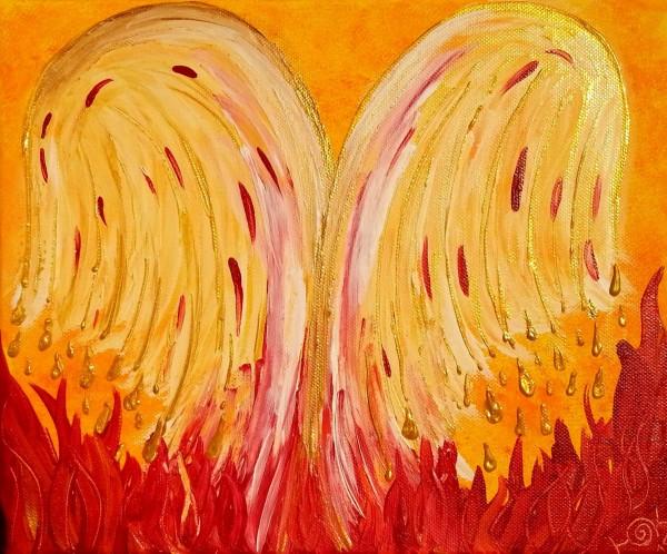 Engelsflügel im Feuer der Leidenschaft
